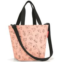 Сумка детская Shopper XS cats and dogs rose, Reisenthel